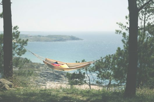 Hammock hanging by the beach | Beauty of Life in the Slow Lane